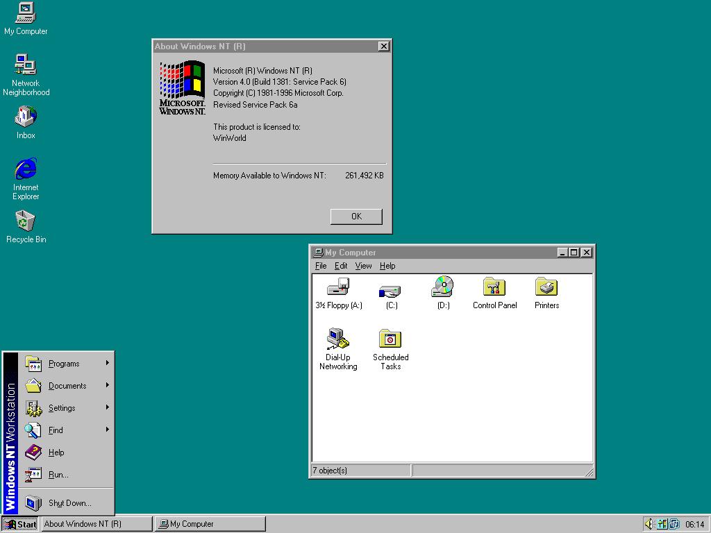 История развития и стандартные обои операционной системы Windows4