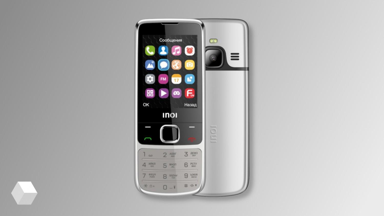 INOI 243 — кнопочный телефон в корпусе из авиационного алюминия