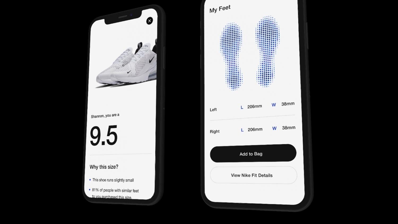 6b68a278 Как только приложение распознает ваши ноги на фоне окружающих объектов, на  экране отобразится правильный размер обуви Nike.