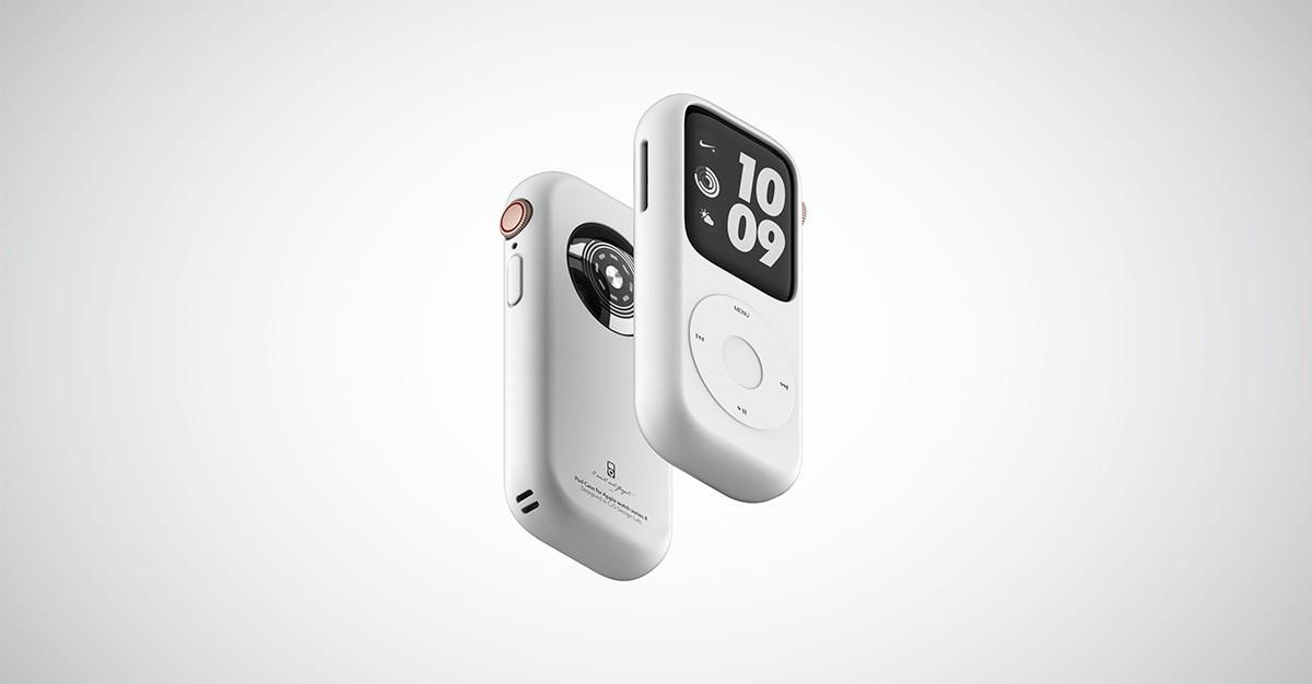 Концепт кейса для превращения Apple Watch в iPod5