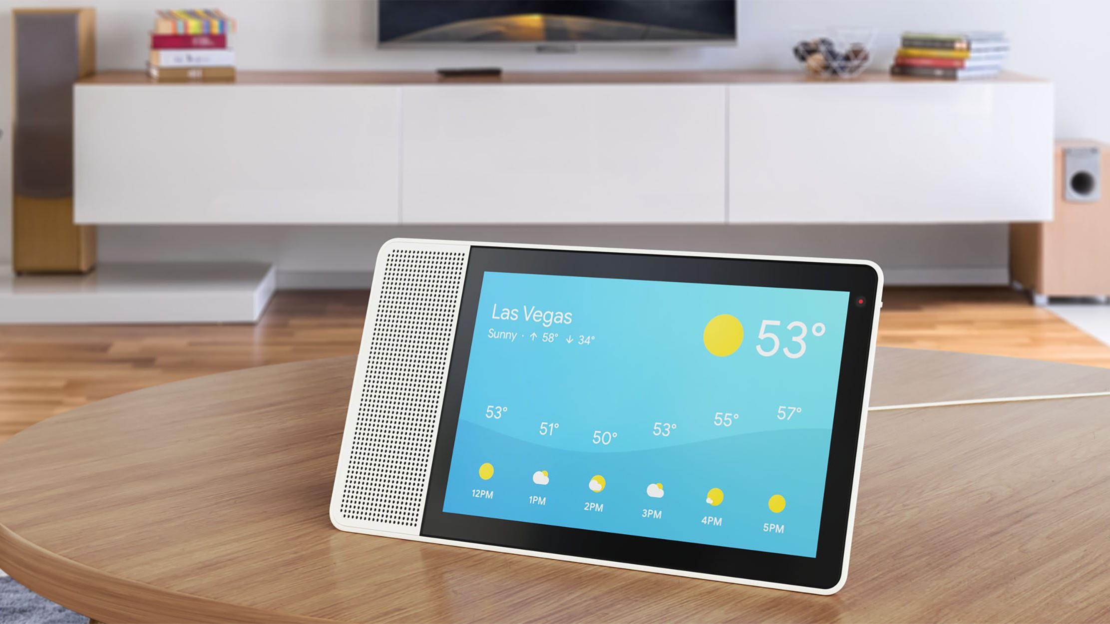 Lenovo представила умную колонку с дисплеем и Ассистентом Google