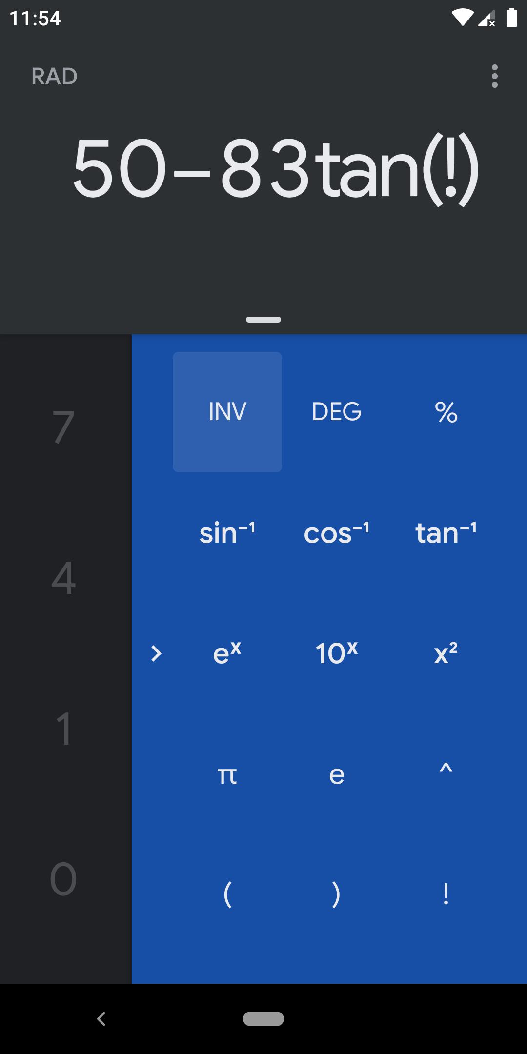 «Google Калькулятор» для Android получил тёмную тему2
