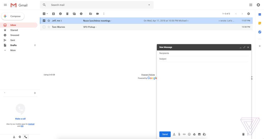 Gmail получит новый дизайн с «умными» ответами и отложенными письмами3