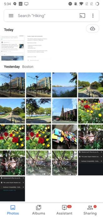 «Google Фото» получили обновлённый Material UI2