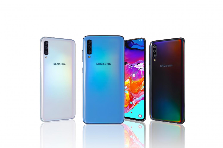 Samsung представила Galaxy A80 с поворотной камерой и A70 с дисплеем Infinity-U6