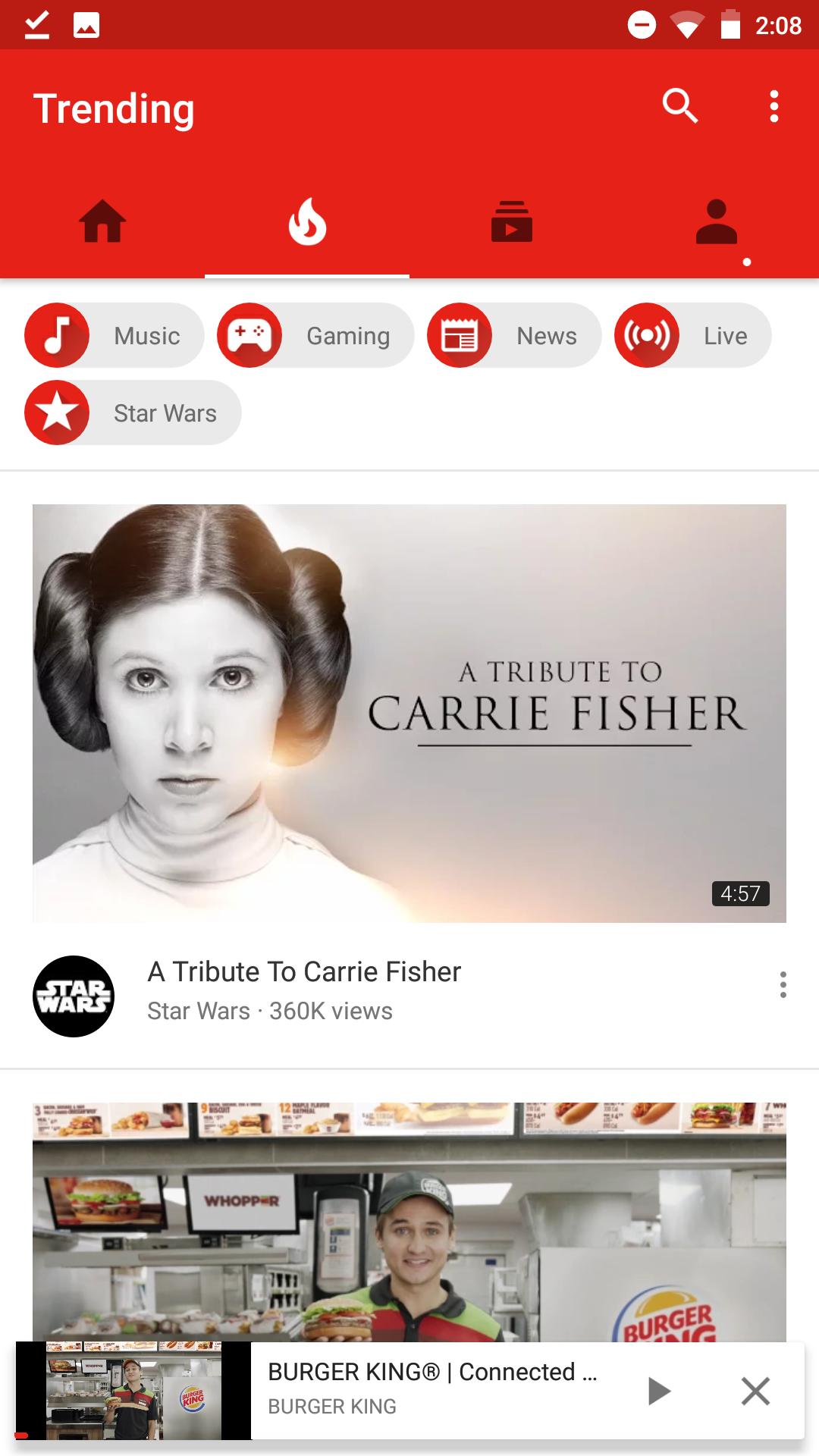 YouTube тестирует алгоритмическую ленту подписок2