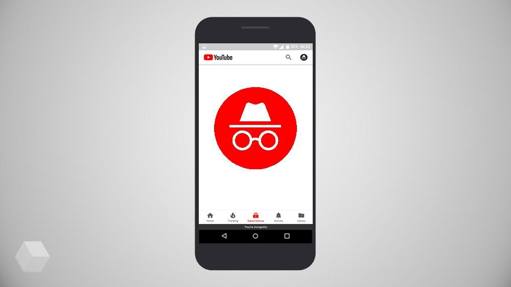 В приложении YouTube замечен режим «Инкогнито»