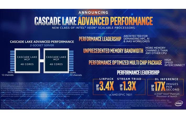 Intel анонсировала процессоры Xeon Cascade Lake-AP и Xeon E-21001