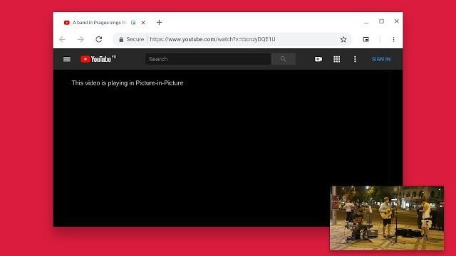 Google Chrome теперь поддерживает режим «картинка в картинке» для видео