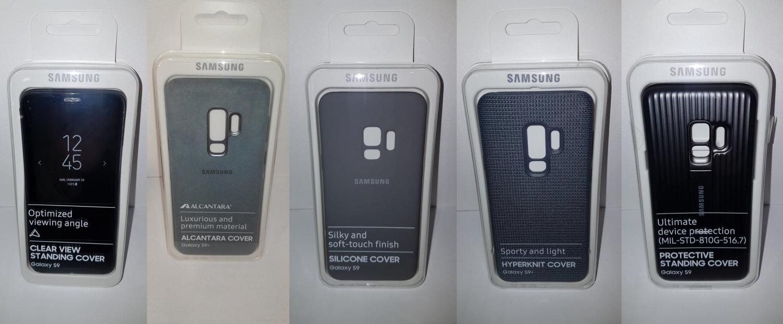 Фотографии фирменных чехлов для Galaxy S91