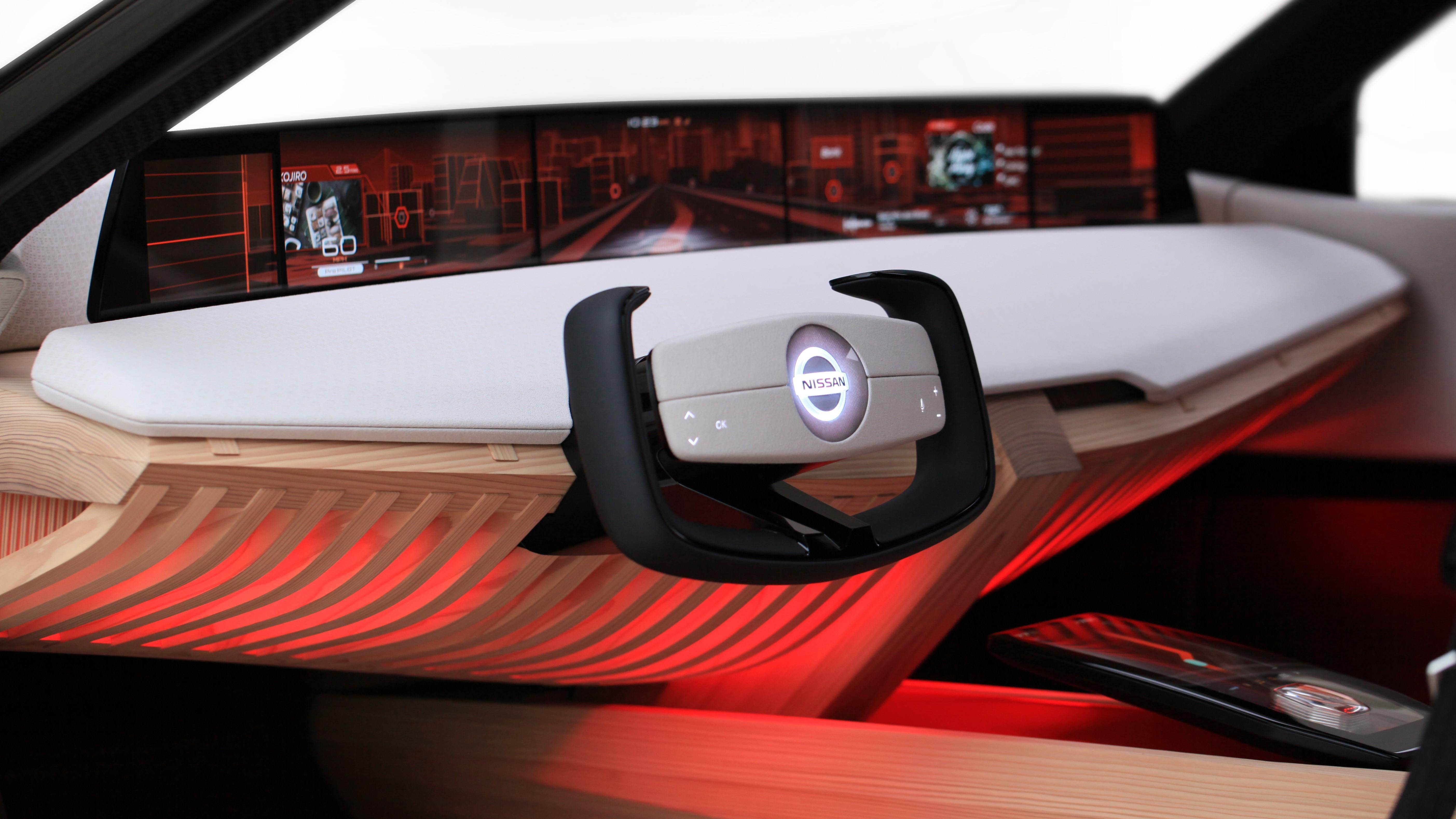Nissan показала концепт-кар с семью экранами для управления