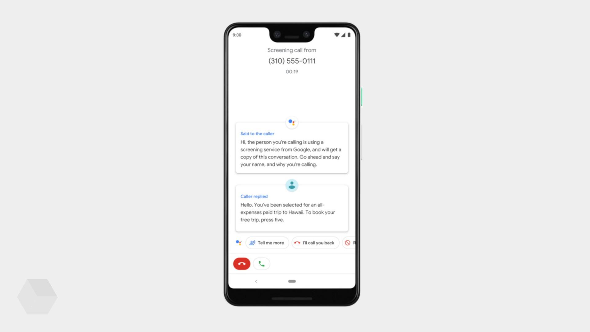 Google Ассистент сам ответит на спам-звонок