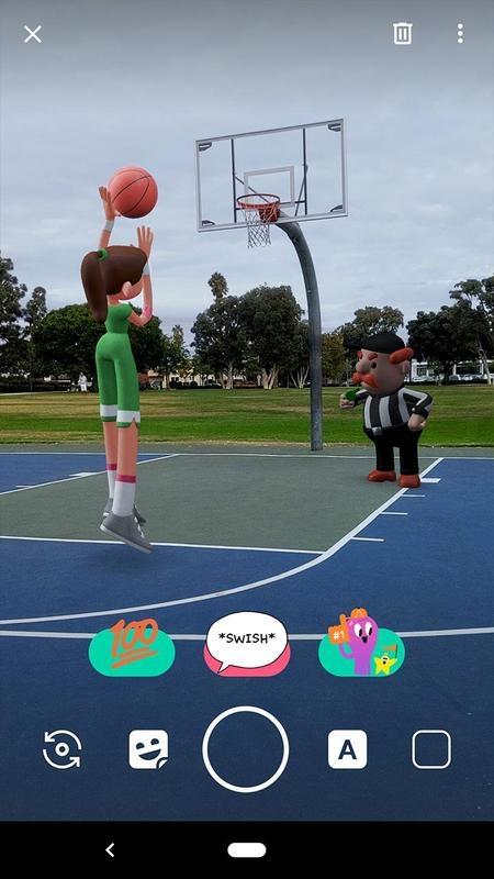 AR-стикеры от Google стали доступны для смартфонов с поддержкой ARCore3