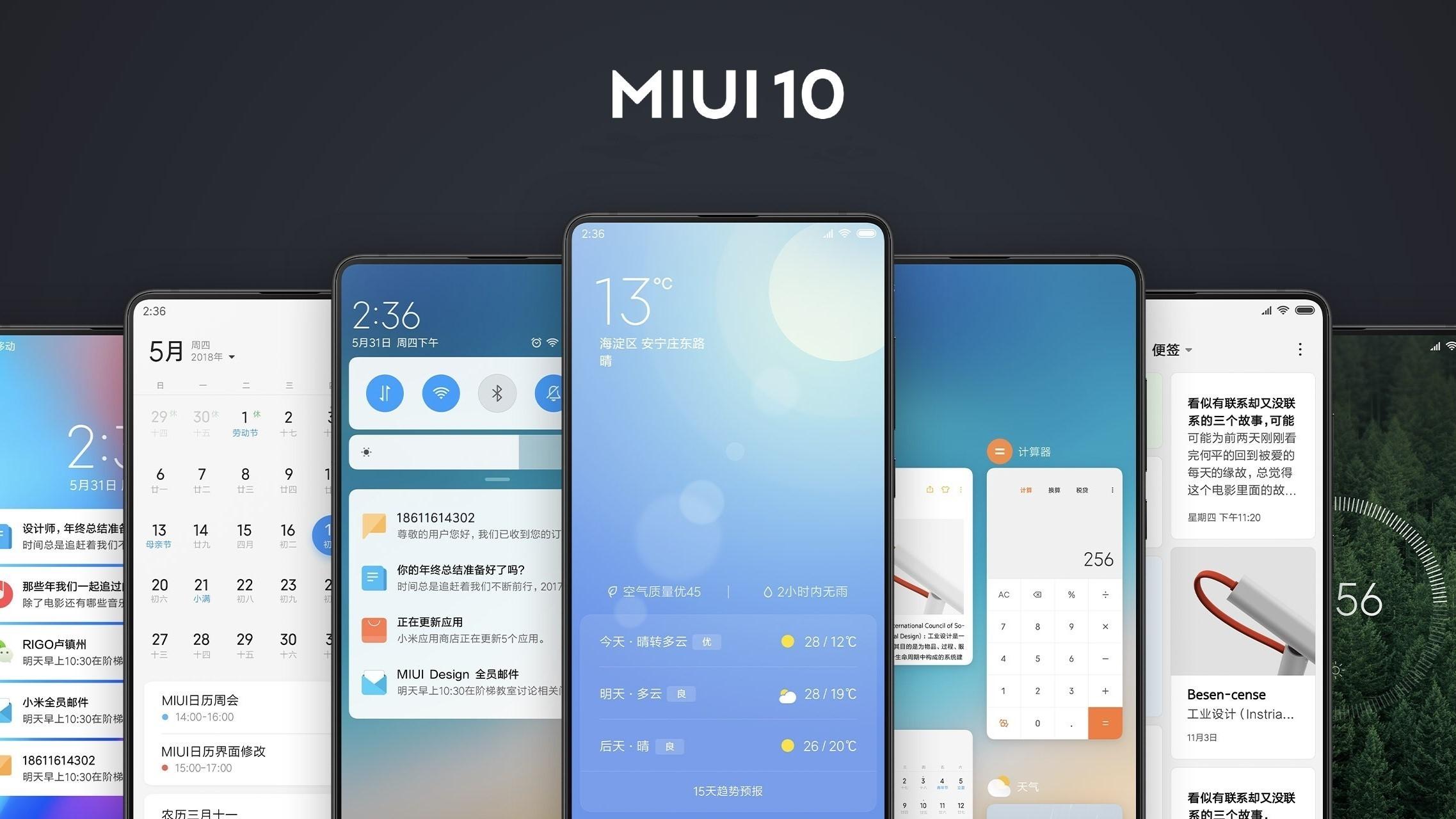 MIUI 10: искусственный интеллект в каждом сантиметре