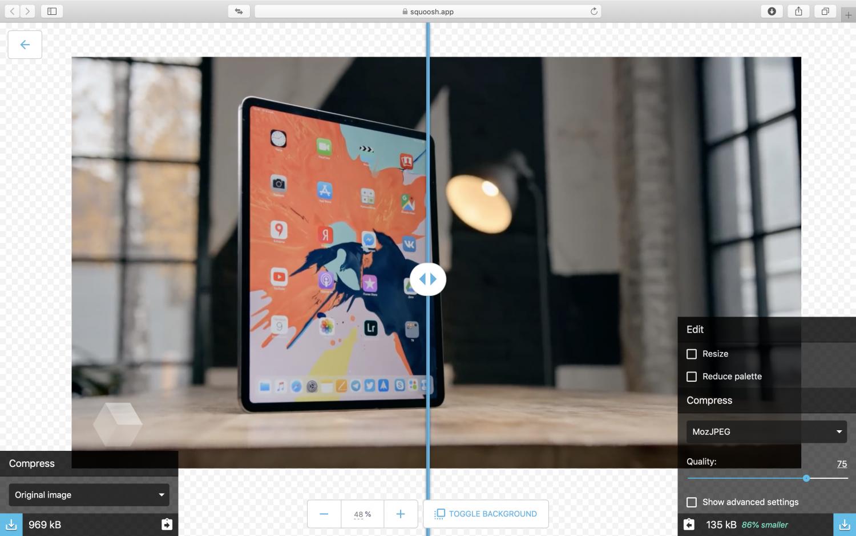 Google выпустила браузерный редактор для сжатия изображений1