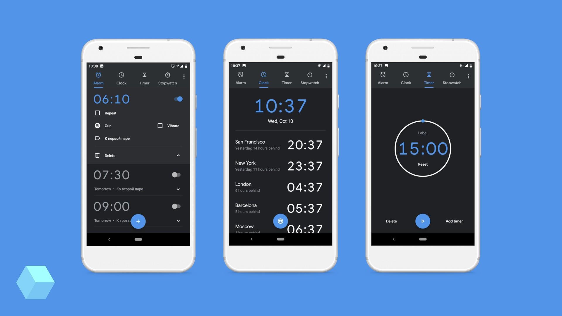 «Google Часы» 6.0 получили новый дизайн