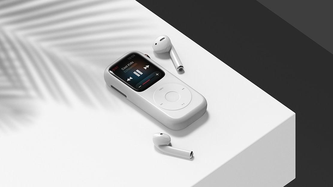 Концепт кейса для превращения Apple Watch в iPod