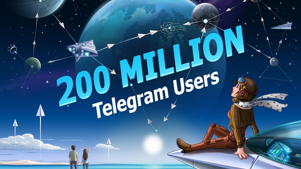 Telegram достиг отметку в 200 млн пользователей