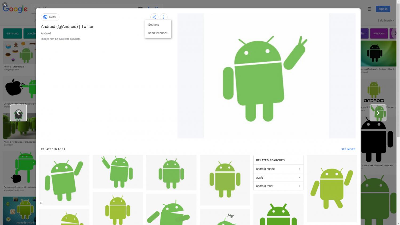 Google тестирует редизайн сервиса Google Картинки1