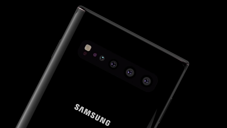 Концепт Samsung Galaxy Note 10 с 5G и четырьмя фотосенсорами