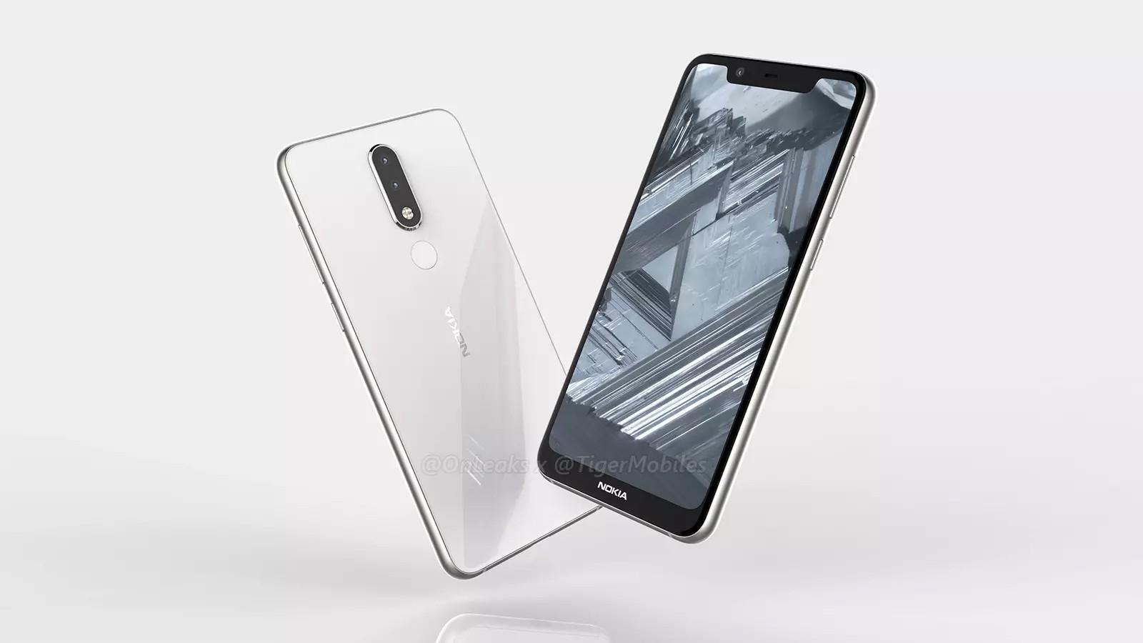 Первые рендеры Nokia 5.1 Plus с вырезом в экране и двойной камерой