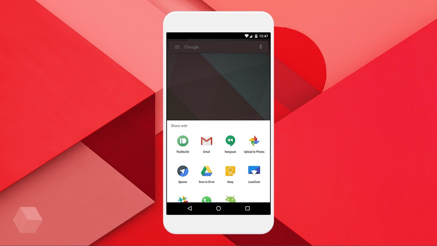В Google разрабатывают для Android новое меню «Поделиться»