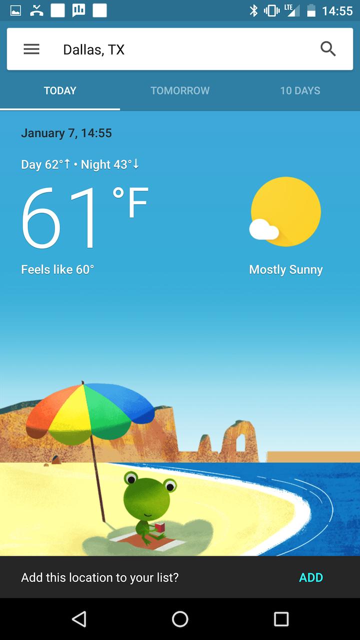 В обновлении приложения Google отключён сервис погоды2