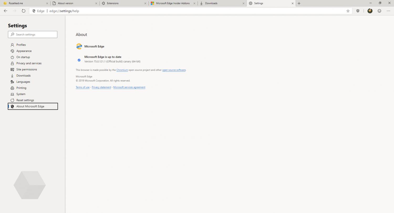 Первый взгляд на Microsoft Edge на основе Chromium14