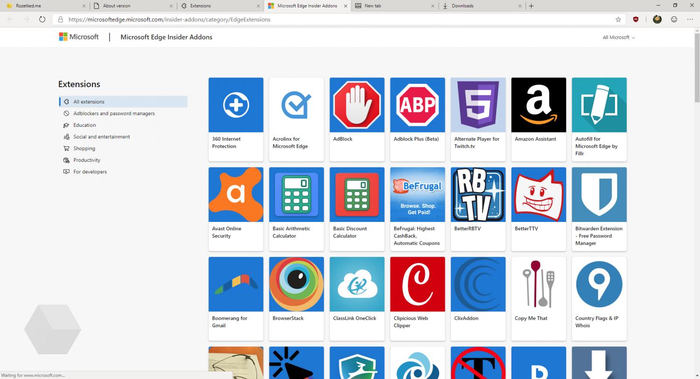 Первый взгляд на Microsoft Edge на основе Chromium5