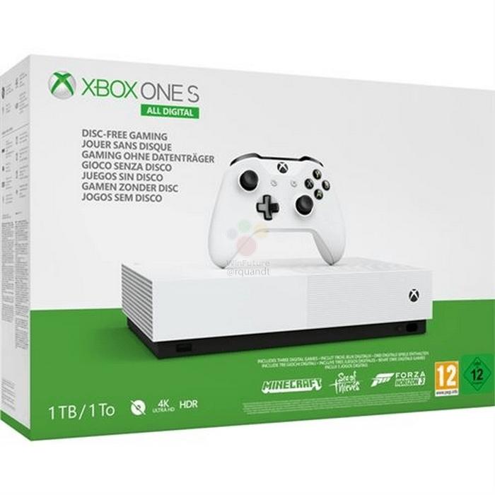 Microsoft перевыпустит консоль Xbox One S без оптического привода5