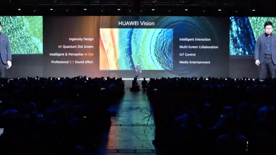 Телевизор Huawei Vision — с разрешением дисплея 4K и ИИ-технологиями