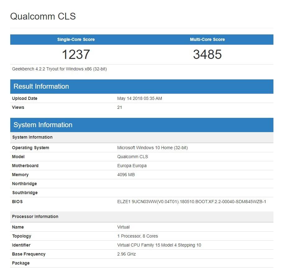 Qualcomm работает над Snapdragon 850 и 10001