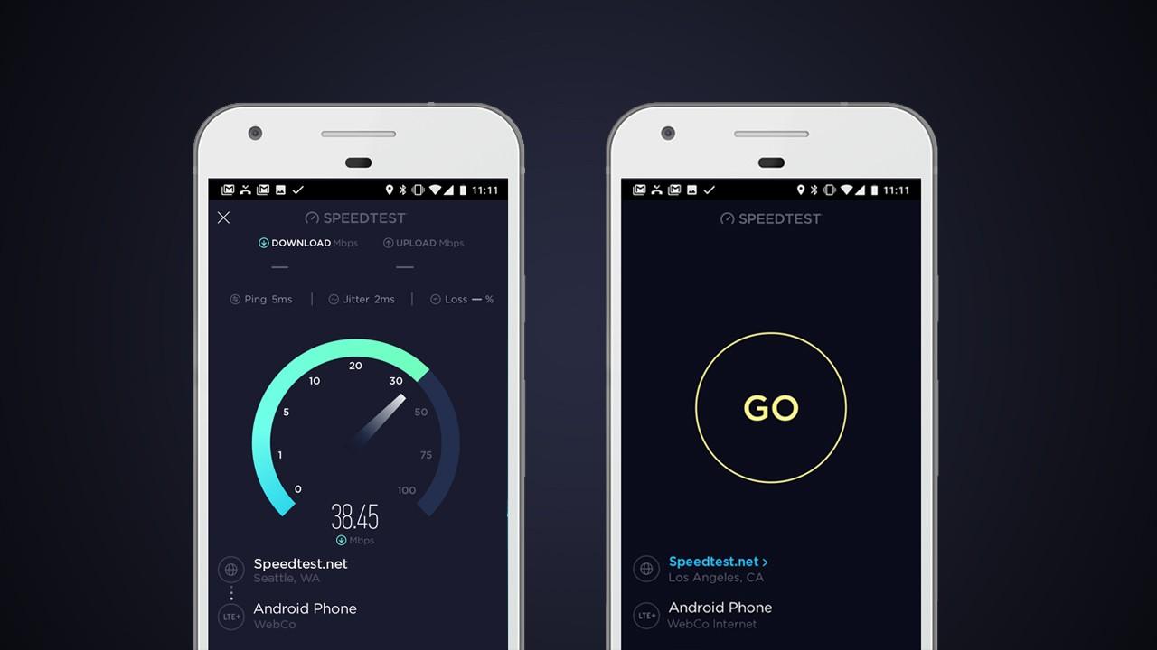 Speedtest в новом дизайне доступен в Google Play