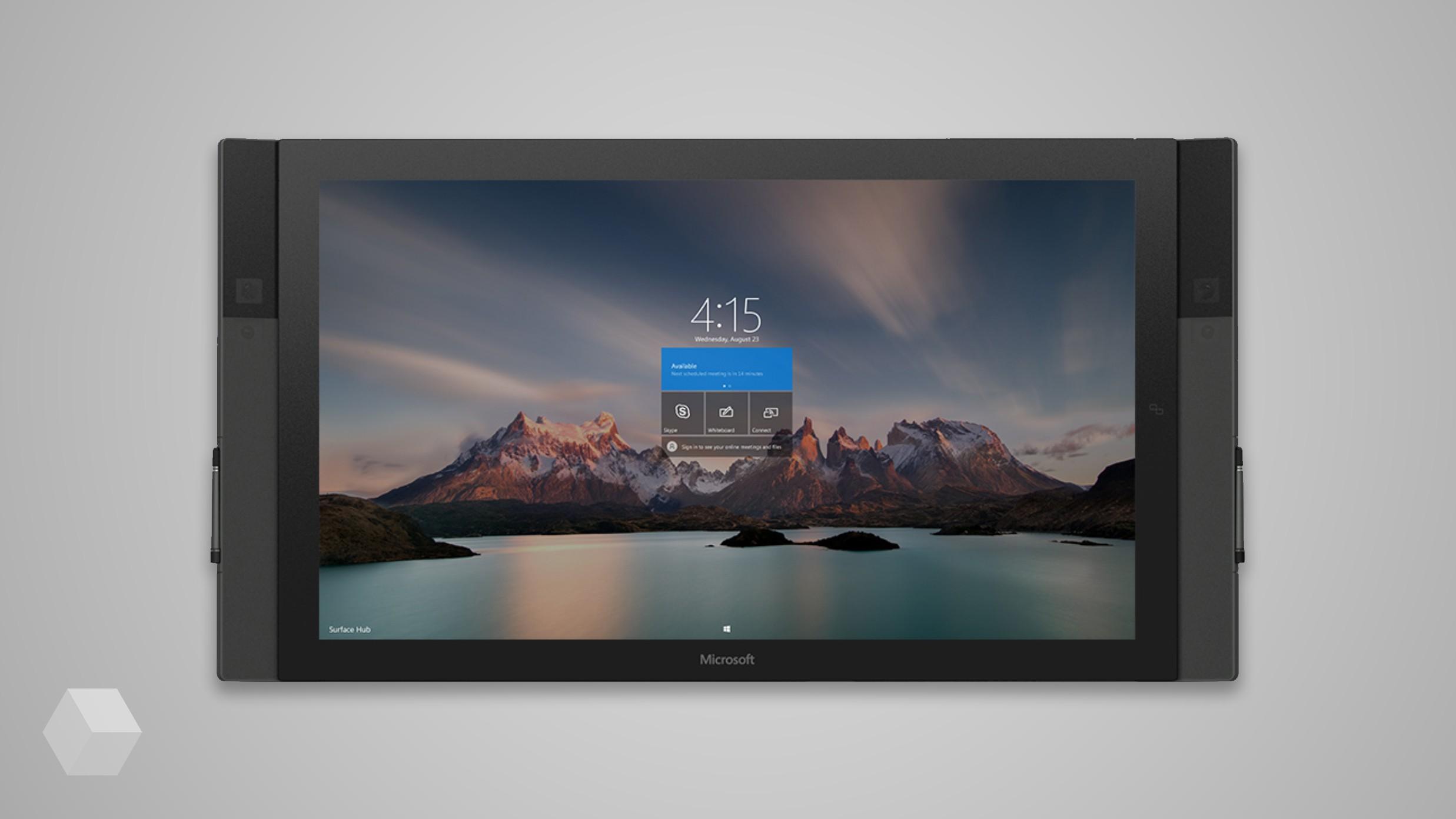 Microsoft работает над вторым поколением умных дисплеев Surface Hub