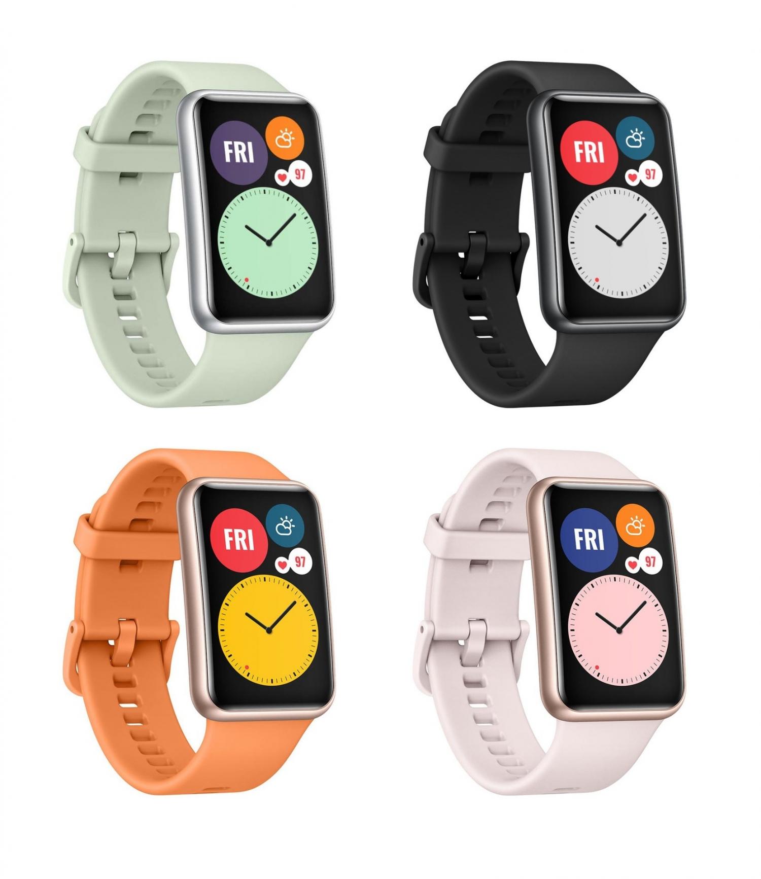 Официальные рендеры часов Huawei Watch Fit2