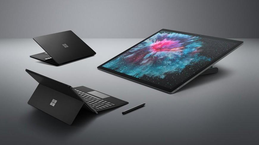 Цвет настроения новых компьютеров Surface— чёрный