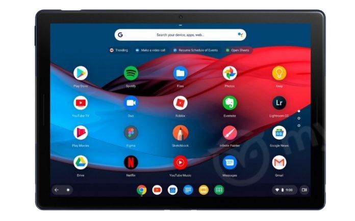 Утекли рендеры планшета Google Pixel Slate3