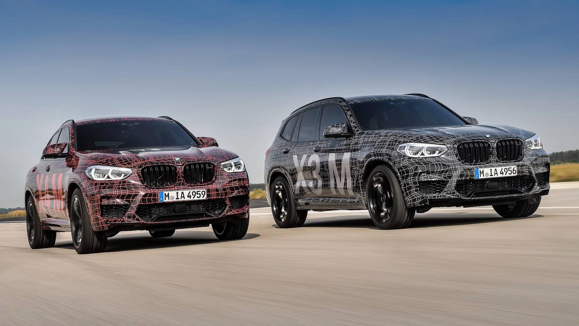 BMW поделилась фотографиями с испытаний X3/X4 M