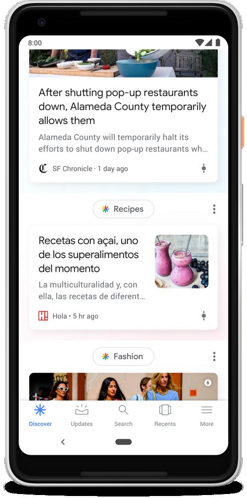 Google перезапустила рекомендательный сервис Feed2