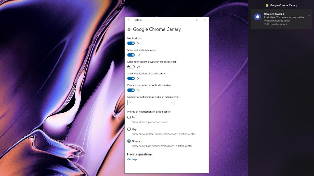 Google Chrome получил поддержку уведомлений в Windows 101