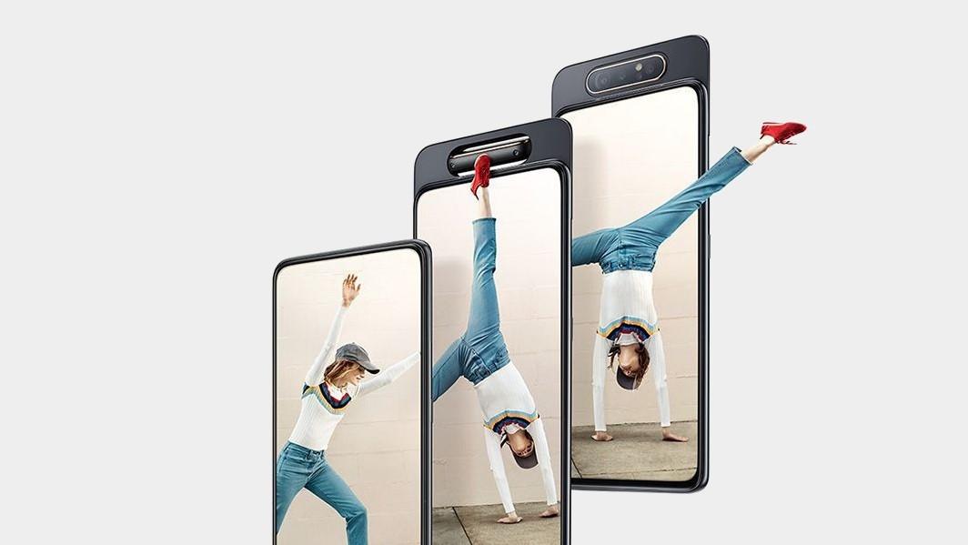 Samsung представила Galaxy A80 с поворотной камерой и A70 с дисплеем Infinity-U