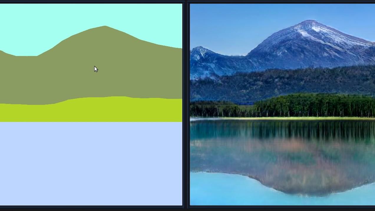 NVIDIA GauGAN превращает набросок в реалистичное изображение