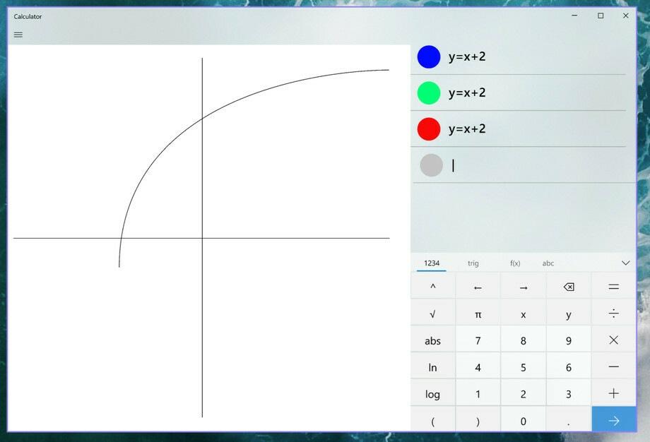 В калькуляторе Windows 10 появится поддержка графических уравнений1