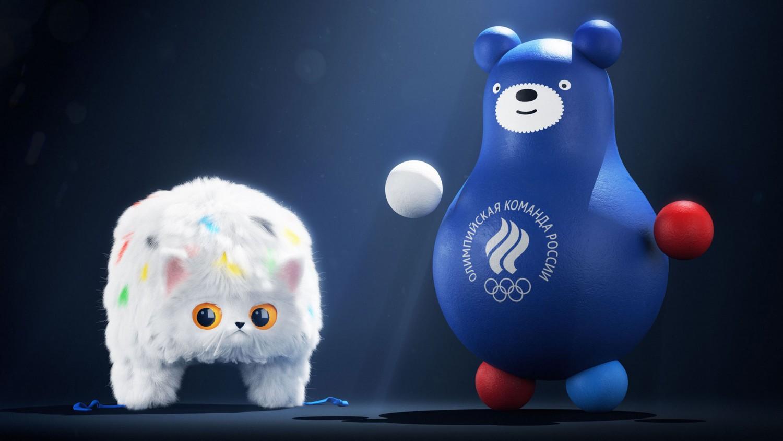 Кот шапка-ушанка и медведь-неваляшка. Студия Лебедева представила талисманы «Команды России»