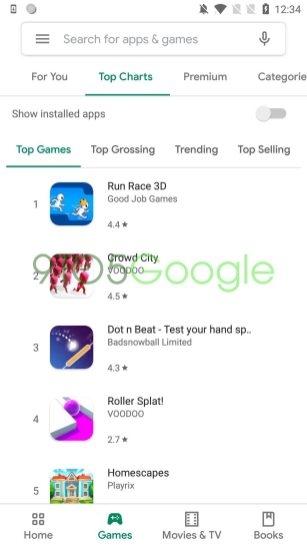 Приложение Google Play обновится с дизайном Material Theme2