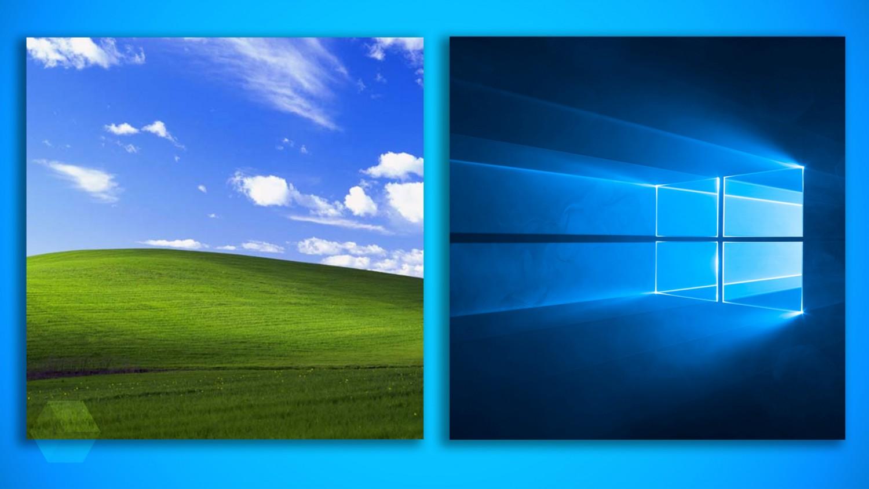 История развития и стандартные обои операционной системы Windows