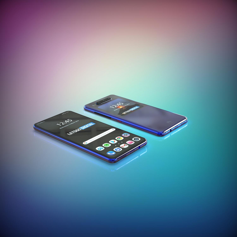 Концепт смартфона Huawei с двумя дисплеями на основе патента3