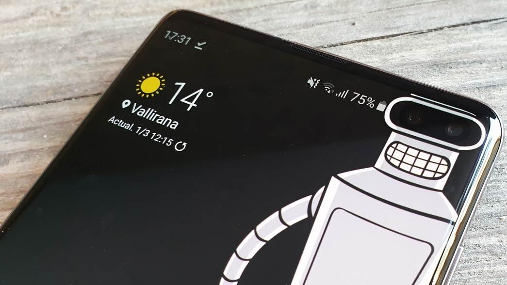 Новое приложение Hidey Hole с обоями для маскировки выреза в Samsung Galaxy S10