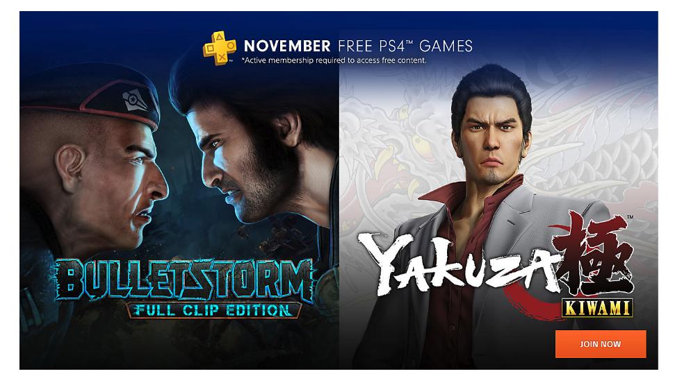 В ноябре подписчики PS Plus получат Bulletstorm и Yakuza Kiwami1