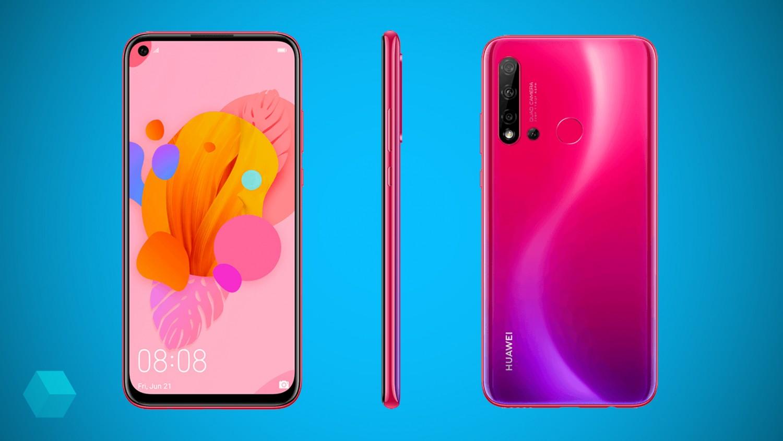 Официальные рендеры Huawei P20 Lite 2019 с отверстием в дисплее
